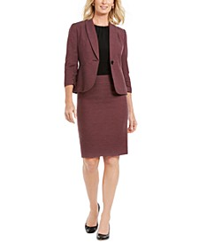Single-Button Skirt Suit