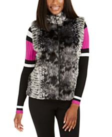 I.N.C. Faux-Fur Zip-Up Topper, Created For Macy's