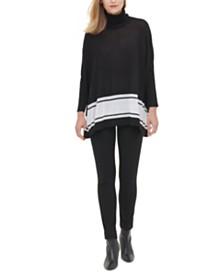 Calvin Klein Turtleneck Poncho Sweater