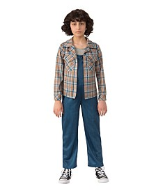 BuySeasons Girl's Stranger Things 2 Kids Eleven's Plaid Shirt Child Costume