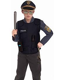 Little and Big Boy's Police Vest Child Costume