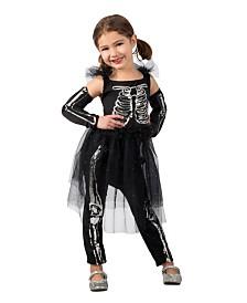 BuySeasons Girl's Sequin Skeleton Child Costume
