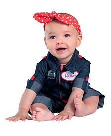 BuySeasons Girl's Newborn Rosie the Riveter Child Costume