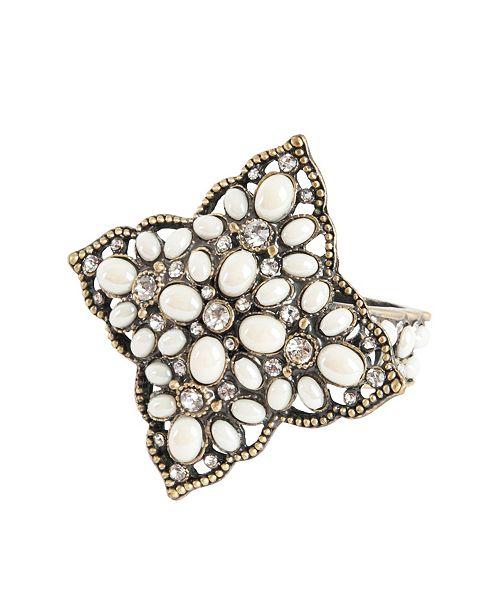 Saro Lifestyle Vintage Deco Style Napkin Ring, Set of 4