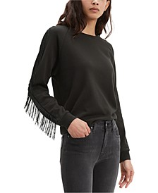 Fringed Crewneck Sweatshirt