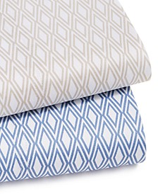 Diamond Geo Cotton 550-Thread Count Extra Deep Sheet Set Collection, Created For Macy's