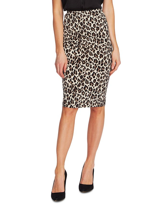 Vince Camuto - Pull-On Leopard-Print Skirt