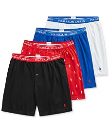 Polo Ralph Lauren Men's 3 +1 Bonus Pk. Knit Cotton Boxers, Created for Macy's