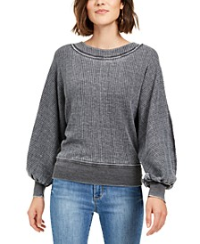 Juniors' Textured Dolman-Sleeve Top, Created For Macy's