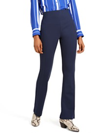 I.N.C. Seamed Ponte-Knit Bootcut Pants, Created For Macy's