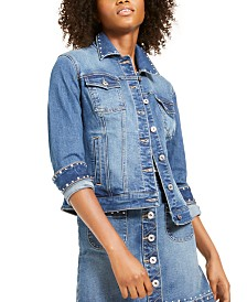 I.N.C. Studded Jean Jacket, Created For Macy's