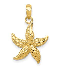 Starfish Pendant in 14k Yellow Gold