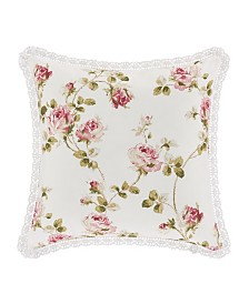 "Rosemary Rose 16"" Square Decorative Throw Pillow"