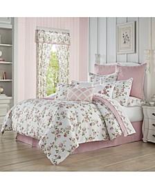 Rosemary Rose Full 4pc. Comforter Set