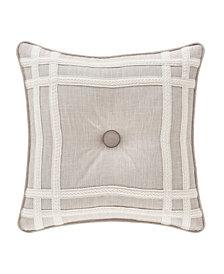 "Lauralynn Beige 18"" Square Decorative Throw Pillow"