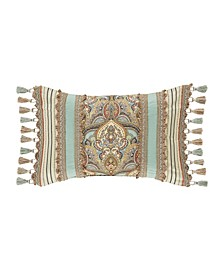 Victoria   Turquoise Turquoise Boudoir Decorative Throw Pillow