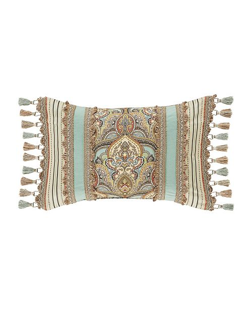 J Queen New York Victoria   Turquoise Turquoise Boudoir Decorative Throw Pillow
