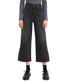 Women's Super Wide Leg Cropped Jeans
