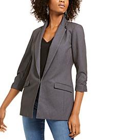INC Heathered 3/4-Sleeve Blazer, Created For Macy's