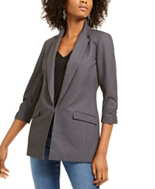 I.N.C. Heathered 3/4-Sleeve Blazer, Created For Macy's