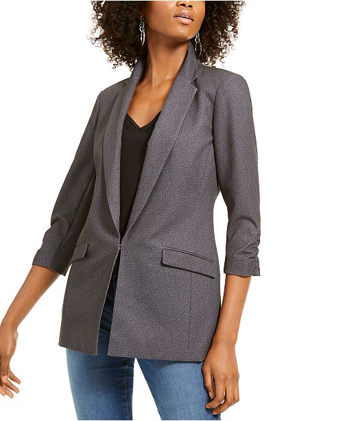 INC International Concepts I.N.C. Heathered 3/4-Sleeve Blazer, Created For Macy's
