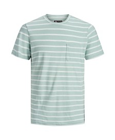Jack & Jones Men's High Summer Short Sleeved Stripe Tshirt
