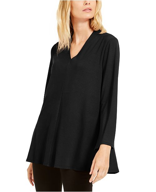 Eileen Fisher V-Neck Flared Top