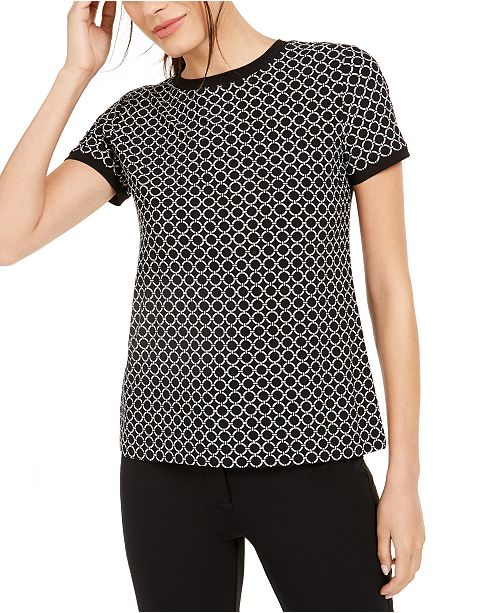 Anne Klein Short-Sleeve Top