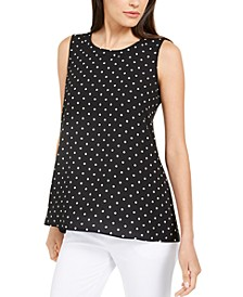 Polka Dot Sleeveless Tunic