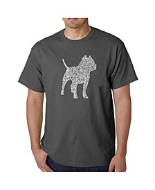 Men's Word Art T-Shirt - Pit bull