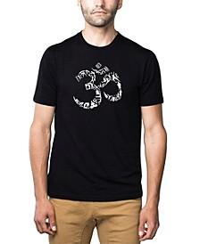 Men's Premium Word Art T-Shirt - Om Symbol
