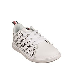 Toddler, Little and Big Boys Iconic Court Logo Sneakers
