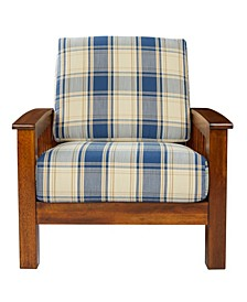 Maison Hill Mission Style Arm Chair with Exposed Wood Frame
