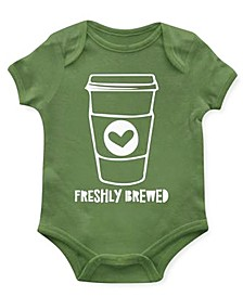 Baby Unisex Freshly Brewed Bodysuit