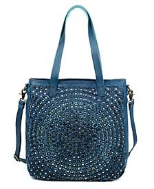 Stellar Stud Leather Tote Bag