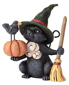 Mini Witch Cat with Pumpkin