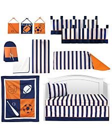 Pam Grace Creations Vintage Like Sports 13 Piece Crib Bedding Set