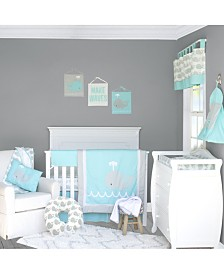 Pam Grace Creations Whale 6 Piece Crib Bedding Set