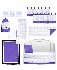 Pam Grace Creations Butterflies and Dragonflies 13 Piece Crib Bedding Set