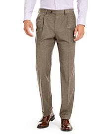 Lauren Ralph Lauren Men's Wool Blend Classic-Fit UltraFlex Stretch Double-Reverse Pleated Dress Pants