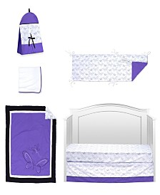 Pam Grace Creations Butterflies and Dragonflies 6 Piece Crib Bedding Set