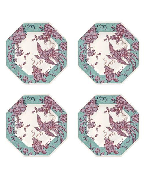 Spode Kingsley Teal Octagonal Plate, Set of 4