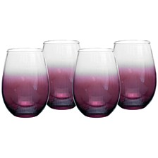 Kingsley Stemless Wine Glass, Set of 4