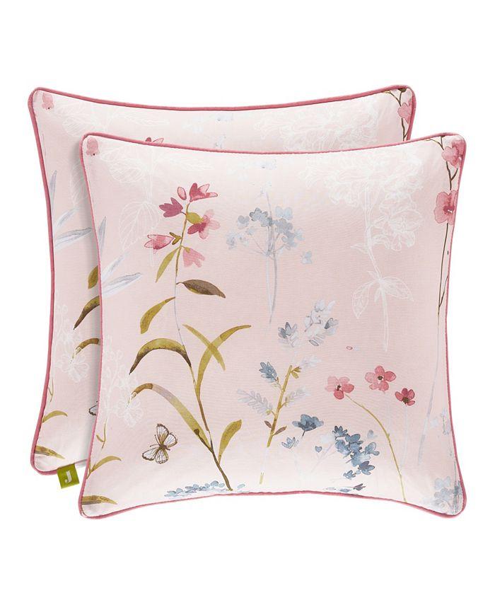 "J Queen New York - Beatrice Rose 18"" Square Decorative Throw Pillow"