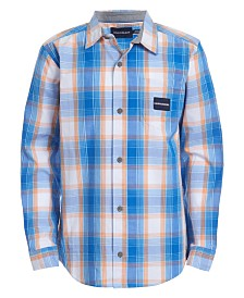 Calvin Klein Jeans Big Boys Gridscape Plaid Shirt