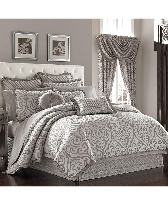 J Queen New York - Luxembourg   Silver Silver Queen 4pc. Comforter Set