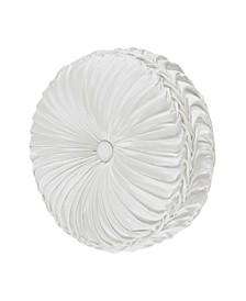 J Queen Cordelia Tufted Round Decorative Throw Pillow