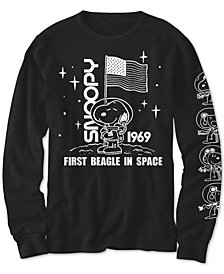 Peanuts Big Boys Snoopy In Space T-Shirt