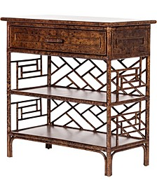 Chippendale Indoor Rattan End Table