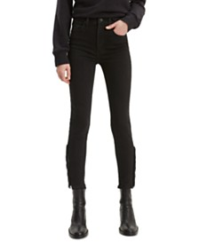 Levi's® Mile High Fringed Skinny Ankle Jeans